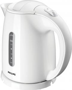 Чайник электрический Philips HD4646/00 мощность 2400Вт; объем 1.5л; пластик; фильтр от накипи, белый пароочиститель philips gc502 30