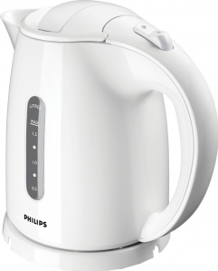 Чайник электрический Philips HD4646/00 мощность 2400Вт; объем 1.5л; пластик; фильтр от накипи, белый электрический чайник philips hd9300 00