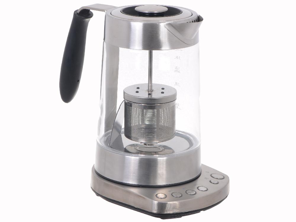 Картинка для Чайник электрический KITFORT KT-601 нагрев до 70, 80, 90 и 100°С, поддержание горячим, съёмная крышка, чаезаварочный механизм, звуковая сигнализация с