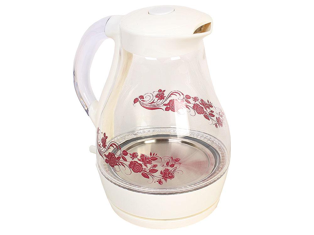 Чайник электрический UNIT UEK-258 белый c рисунком
