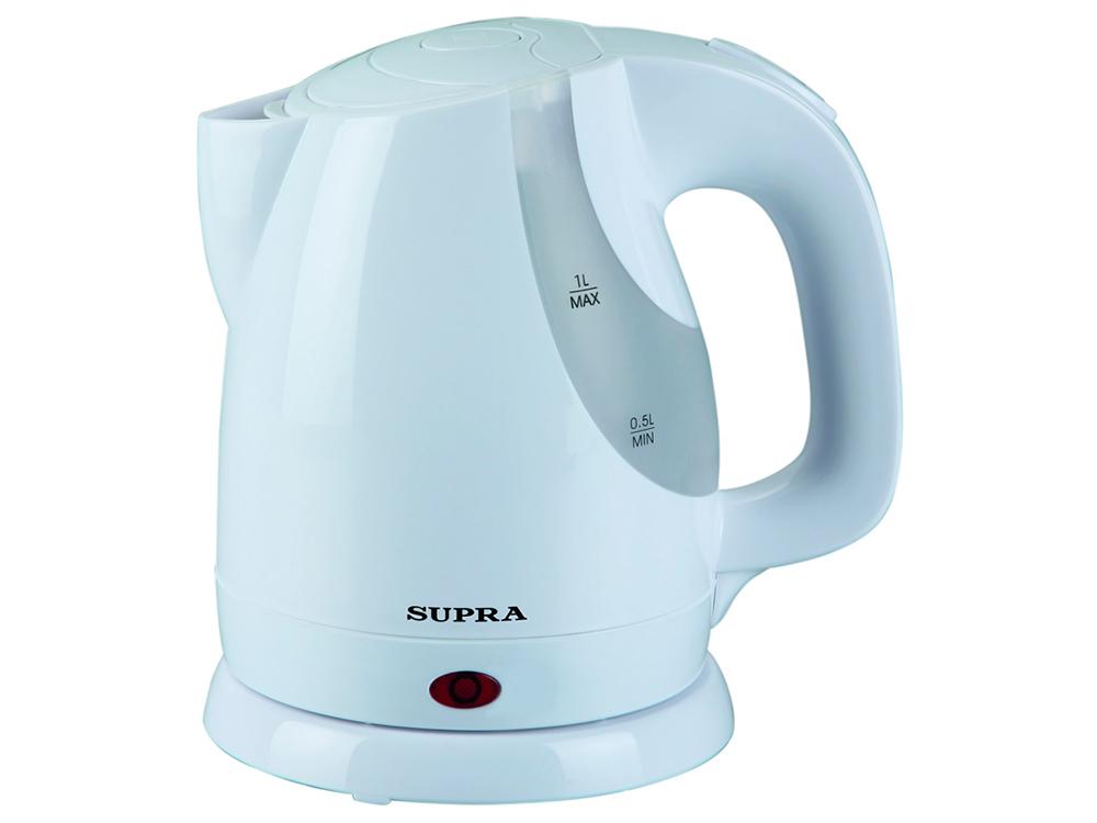 Чайник SUPRA KES-1021 мощность — 1100Вт; объем — 1л; корпус — пластик; фильтр от накипи, цвет — белый телефон supra stl 111 белый