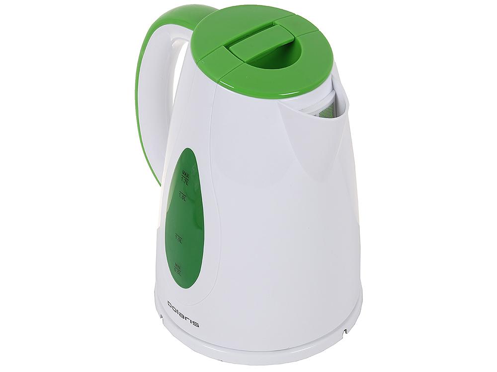 Чайник электрический POLARIS PWK 1752C мощность — 2200Вт; объем — 1.7л; корпус — пластик; фильтр от накипи, цвет — зеленый чайник электрический polaris pwk 1752c зеленый белый