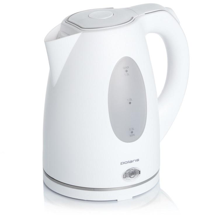 Чайник электрический POLARIS PWK 1574CL мощность — 2000Вт; объем — 1.5л; корпус — пластик; фильтр от накипи, подсветка воды; блокировка