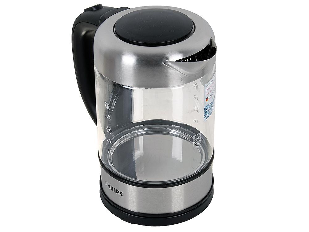 Чайник электрический Philips HD9342/01 мощность 2200Вт; объем 1.5л; стекло; фильтр от накипи, серый все цены