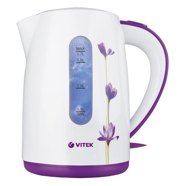 Чайник электрический VITEK VT-7011 (W) 1800-2200 Вт. Максимальный объем 1,7 л. Корпус из термостойкого пластика. чайник vitek vt 7007 st 2200 вт 1 7 л нержавеющая сталь серебристый