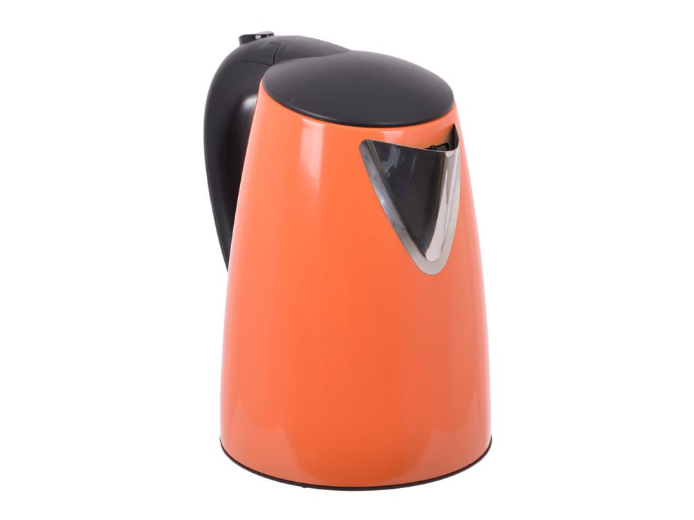 цена на Чайник электрический BBK EK1705S 2200Вт, 1,7литра, нержавеюшая сталь, дисковый нагр. элемент, Английский контроллер,оранжевый
