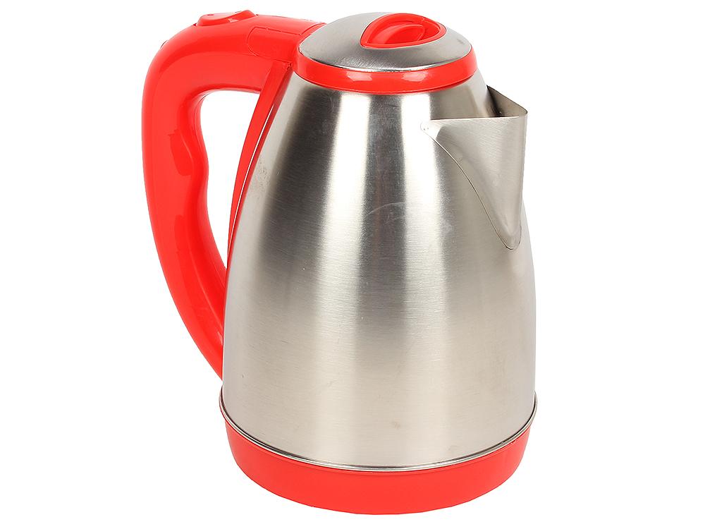 Чайник электрический Viconte VC-3244 нерж.сталь, красный, об.2л., 2000Вт.