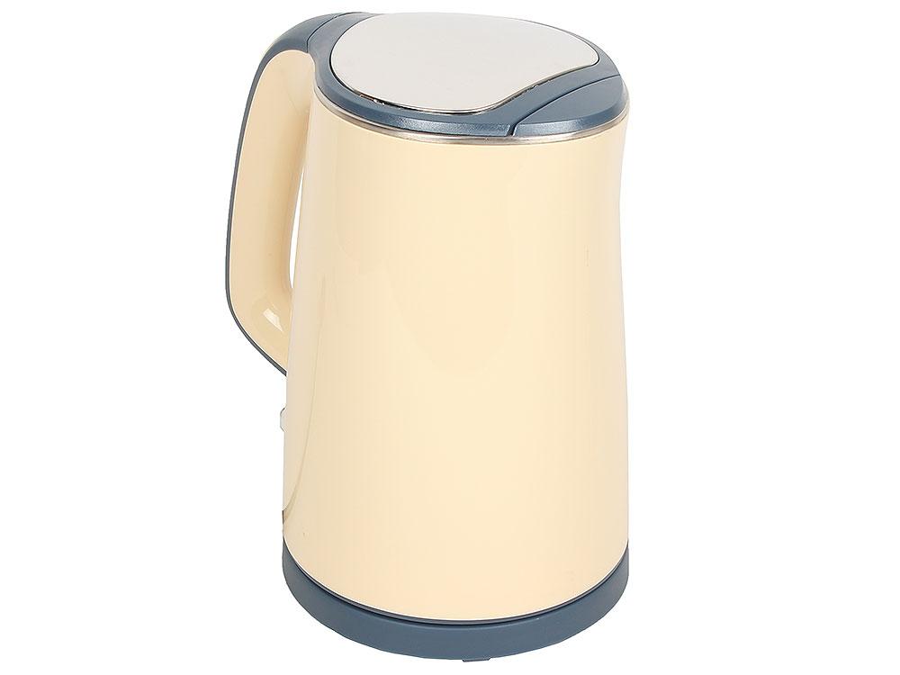 Чайник электрический MARTA MT-1065 бежевый/серый