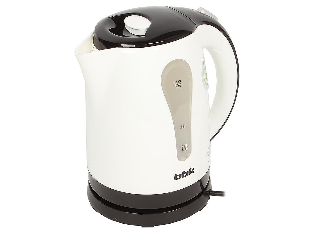 Чайник электрический BBK EK1800P белый/черный электрический чайник bbk ek1705s белый черный ek1705s белый черный