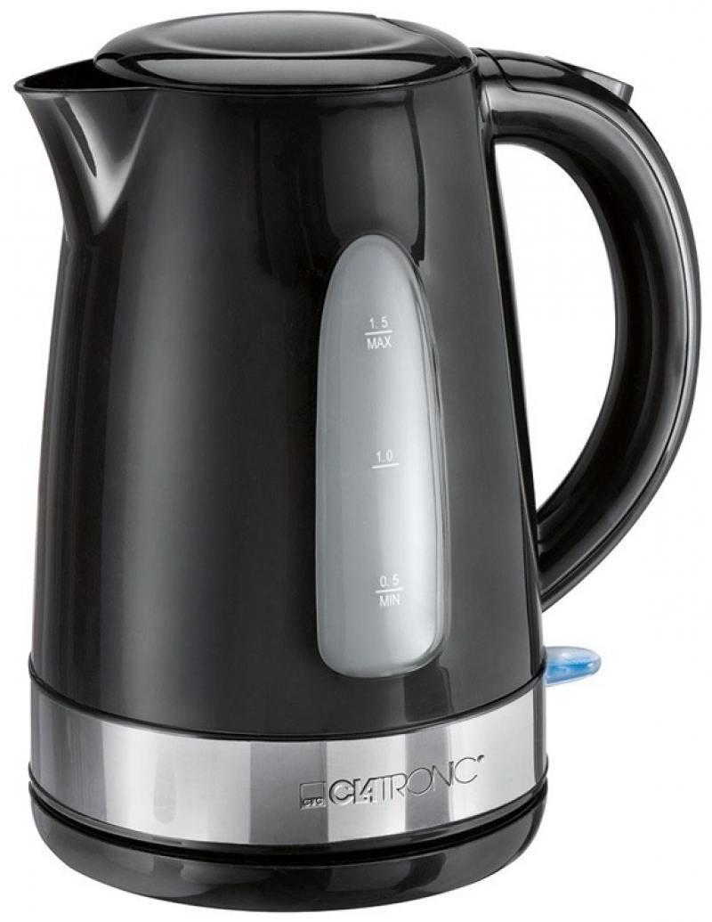 Чайник электрический Clatronic WKS 3576 чайник clatronic wks 3576 2200 вт чёрный серебристый 1 5 л металл пластик