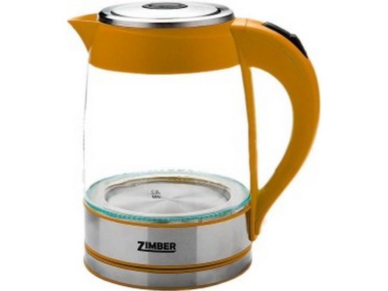 Чайник Zimber ZM-10819 2000 Вт 1.8 л металл/стекло оранжевый