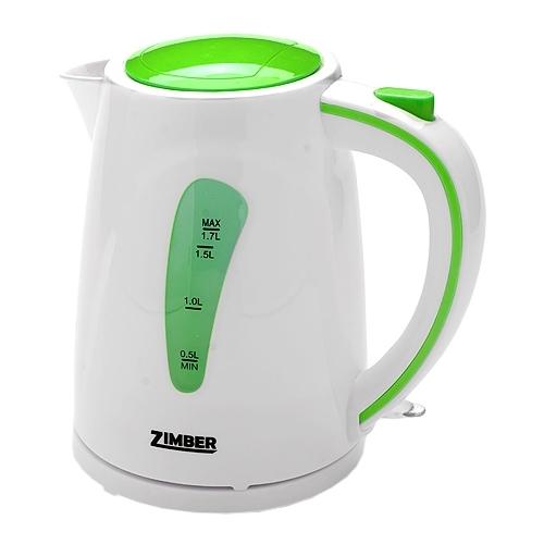 Чайник Zimber ZM-10838 2200 Вт 1.7 л пластик белый зелёный