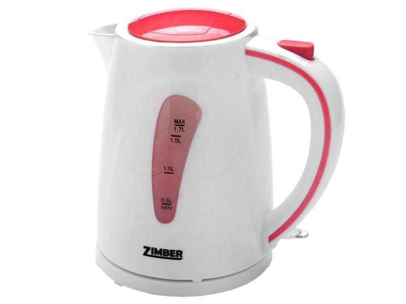 Чайник Zimber ZM-10841 2200 Вт 1.7 л пластик белый розовый