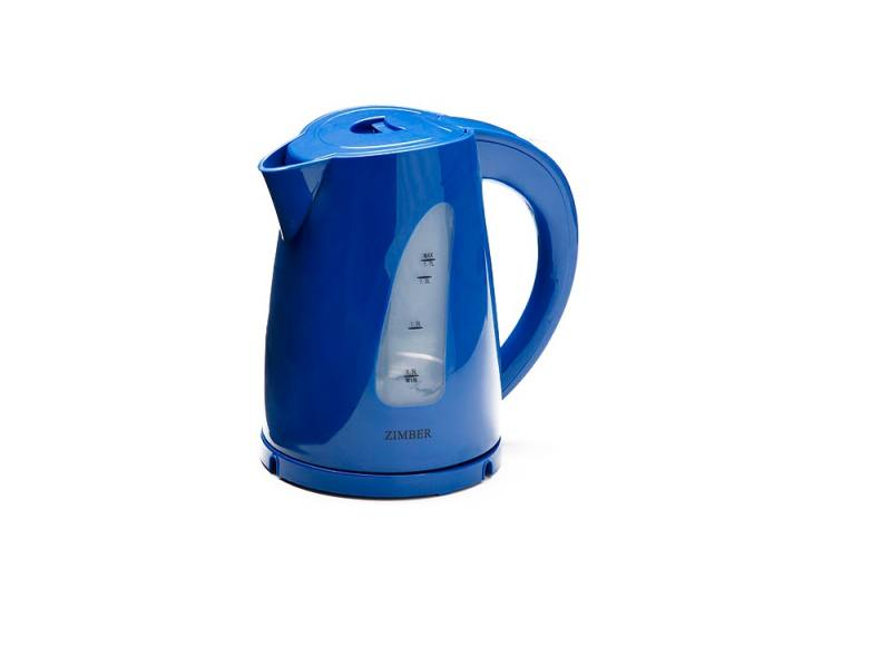 Чайник Zimber ZM-11032 2200 Вт 1.7 л пластик синий чайник zimber zm 11130 1500 вт зелёный 1 8 л металл