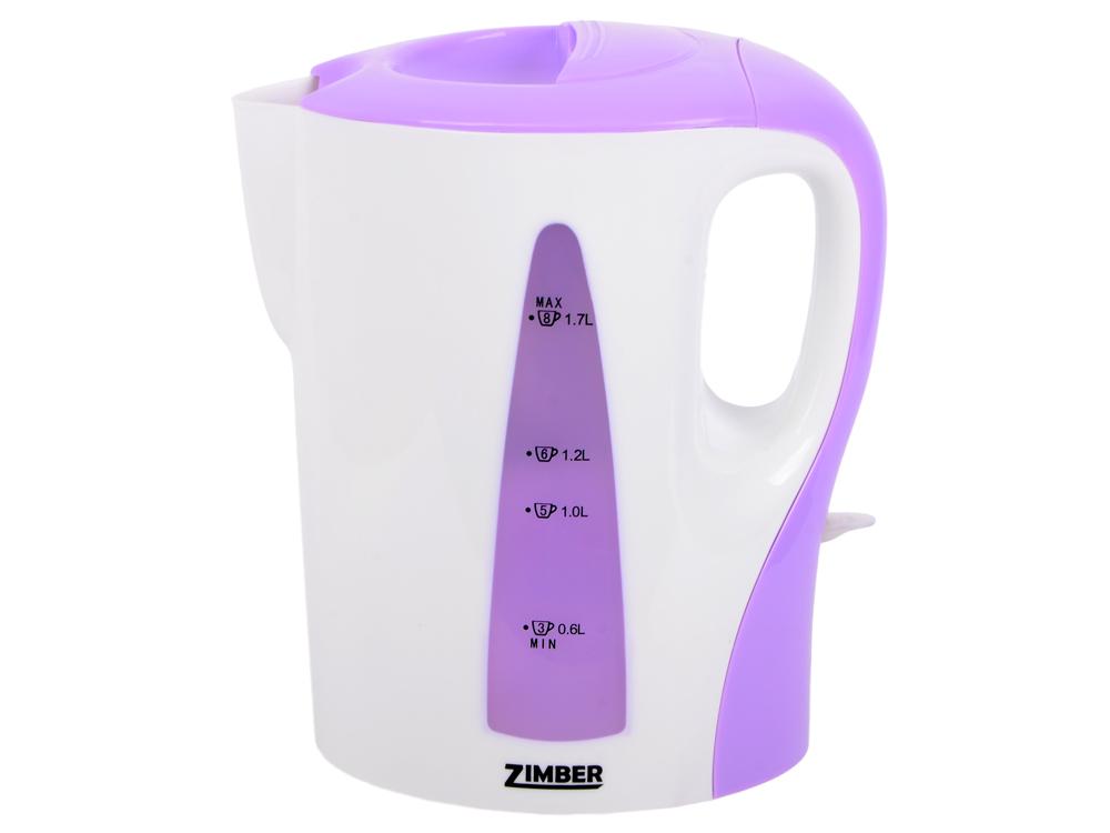 Чайник Zimber ZM-10862 2200 Вт 1.7 л пластик белый сиреневый