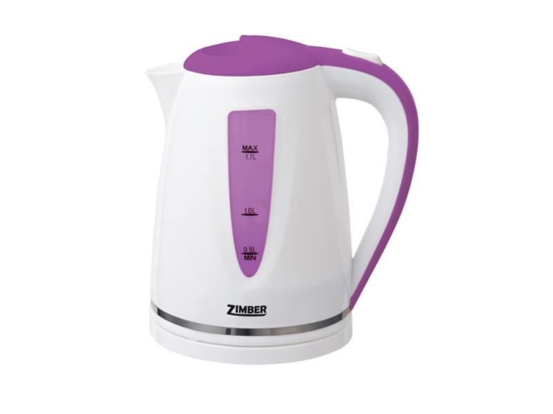 Чайник Zimber ZM-10851 2200 Вт 1.7 л пластик белый сиреневый