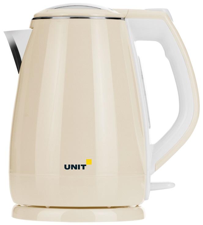 Чайник электрический UNIT UEK-268 Бежевый rm1 2337 rm1 1289 fusing heating assembly use for hp 1160 1320 1320n 3390 3392 hp1160 hp1320 hp3390 fuser assembly unit