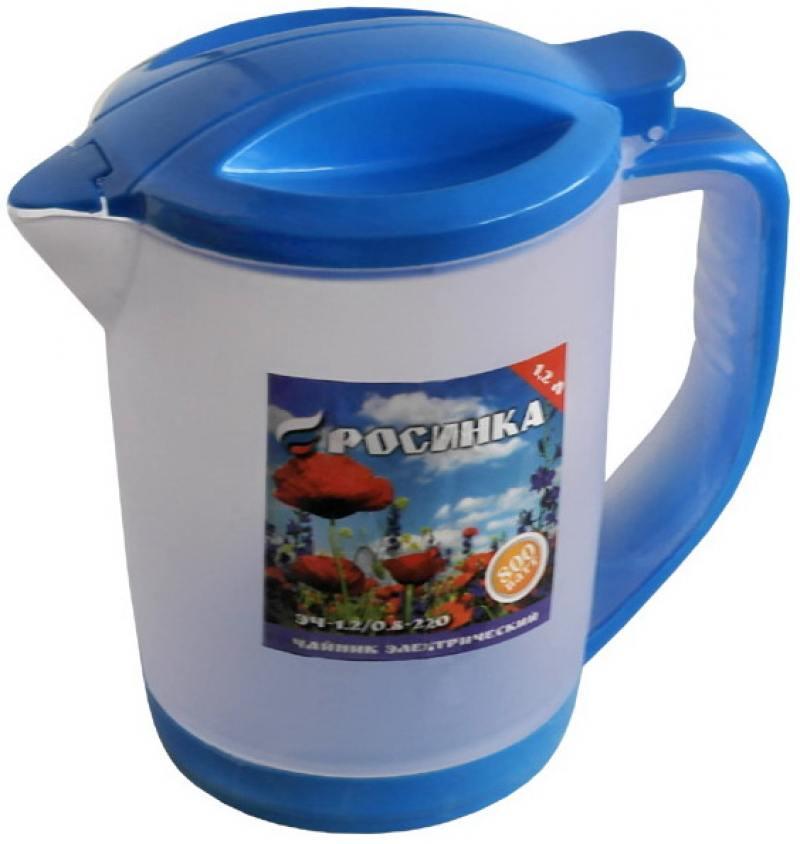 Чайник электрический РОСИНКА ЭЧ-1,2/0,8-220 ,об.1.2л, голубой, пластик