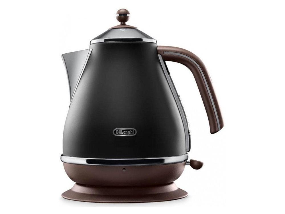 Чайник электрический Delonghi KBOV2001.BK кофемашина delonghi ecam 45 760 w белый