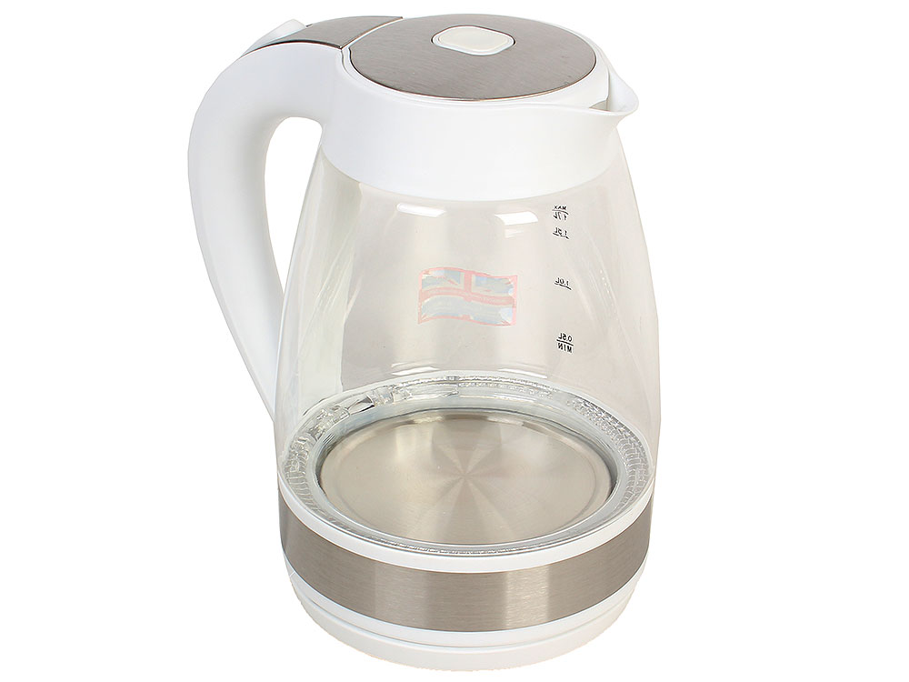 Чайник электрический BBK EK1721G белый чайник электрический kitchenaid 5kek1322ess