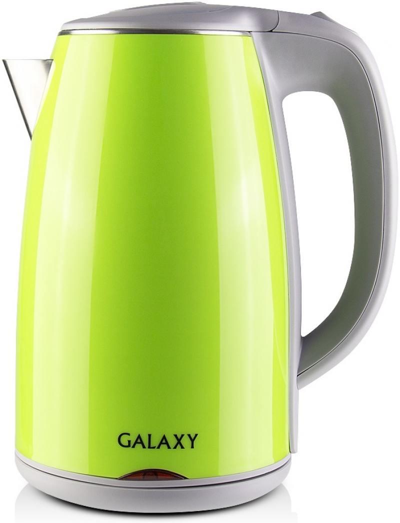 Чайник GALAXY GL0307 2000 Вт 1.7 л металл/пластик зелёный чайник galaxy gl0301 2000 вт 1 5 л пластик белый рисунок