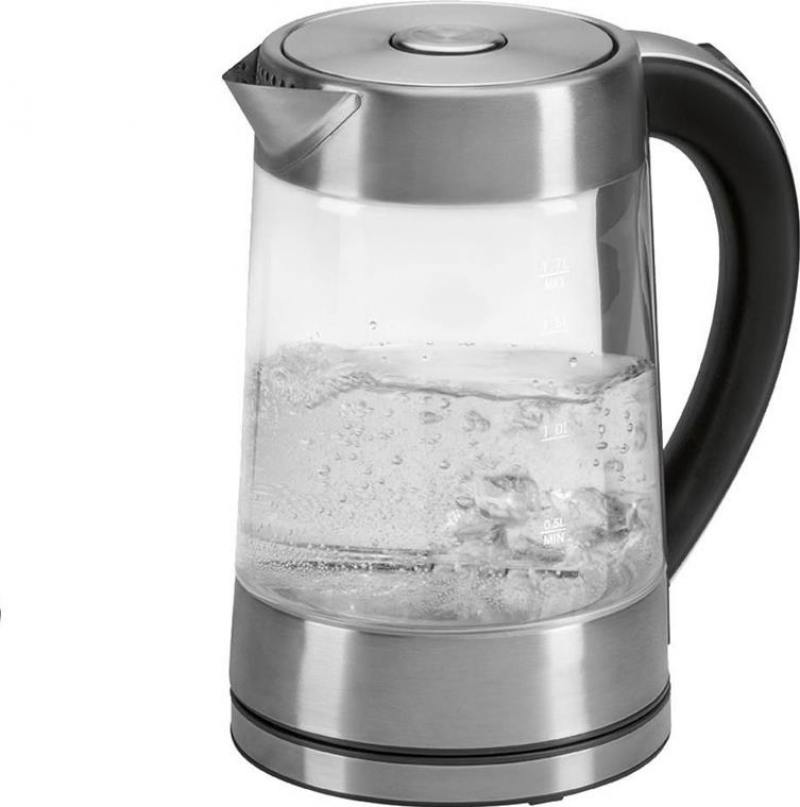 Чайник электрический Clatronic WK 3501 G чайник clatronic wk 3501 g 2200 вт прозрачный 1 7 л металл стекло