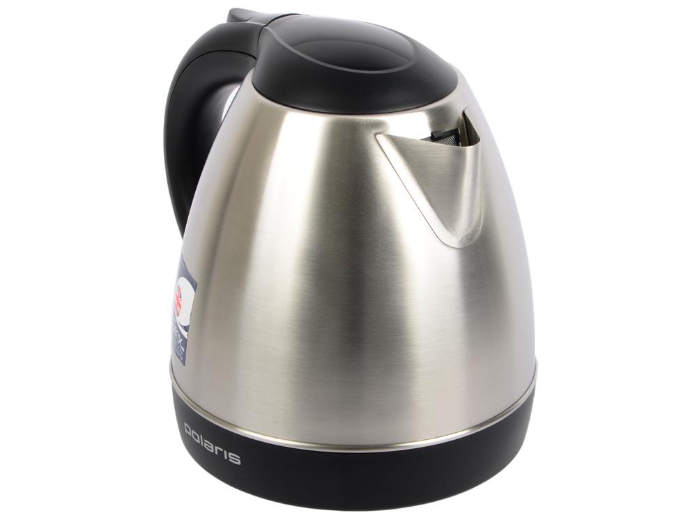 все цены на Чайник Polaris PWK 1843CA 2100 Вт 1.8 л металл серебристый чёрный