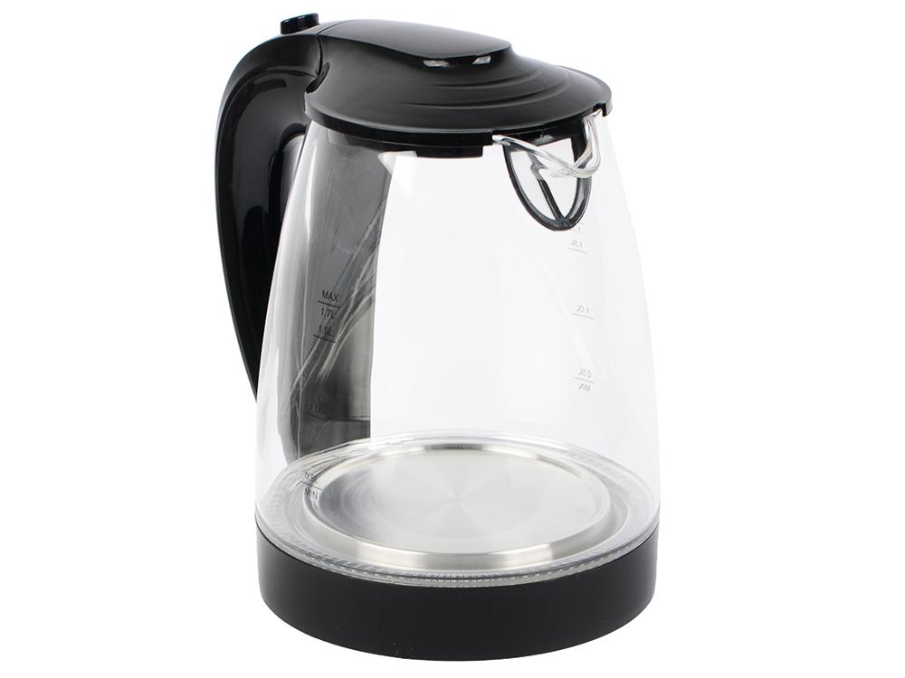 Чайник Vitek VT-1122TR 2200 Вт 1.7 л пластик/стекло прозрачный чайник vitek vt 7008 tr 2200 вт чёрный 1 7 л пластик стекло