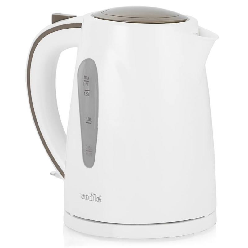Чайник Smile WK5304 2200 Вт 1.7 л пластик белый чайник smile wk5306 2000 вт 1 7 л пластик белый