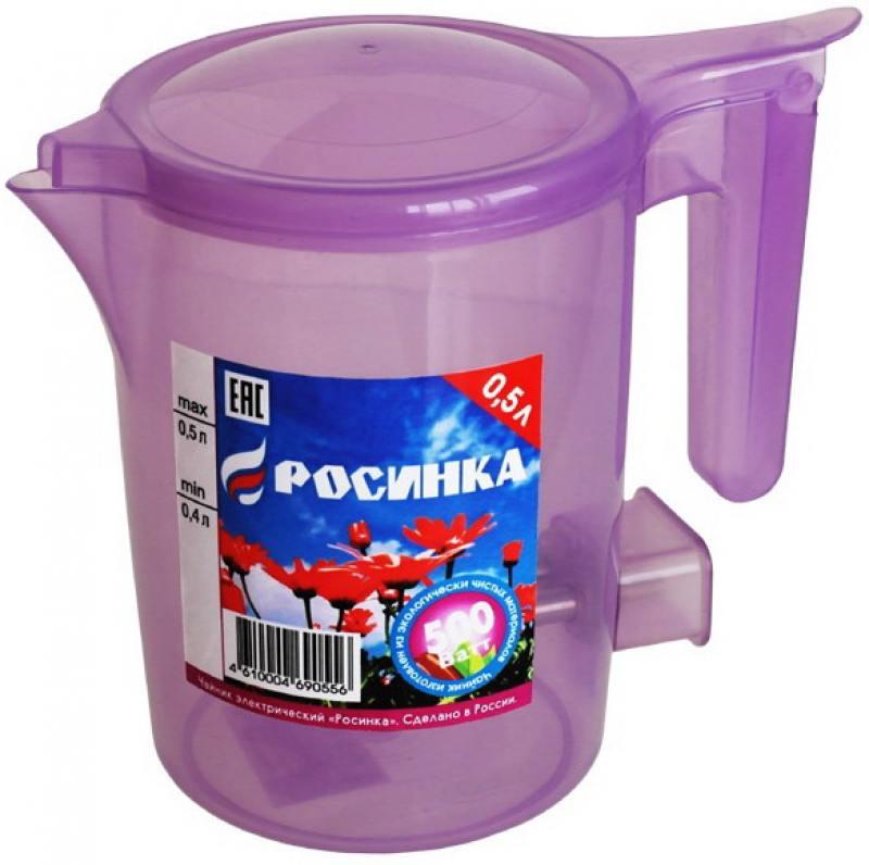 Чайник Росинка ЭЧ-0,5/0,5-220 500 Вт 0.5 л пластик прозрачный сиреневый