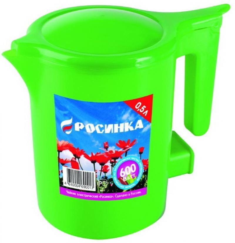 Чайник Росинка ЭЧ-0,5/0,5-220 500 Вт 0.5 л пластик зелёный