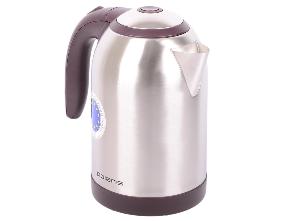 ! Чайник Polaris PWK 1864CA 1800 Вт 1.8 л металл серебристый бордовый чайник philips hd9306 02 1800 вт 1 5 л металл серебристый чёрный