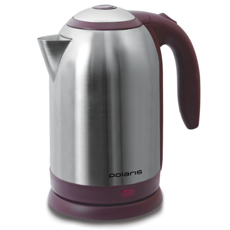 Чайник Polaris PWK 1864CA 1800 Вт 1.8 л металл серебристый бордовый чайник polaris pwk 1765car 2200вт 1 7л металл черный серебристый
