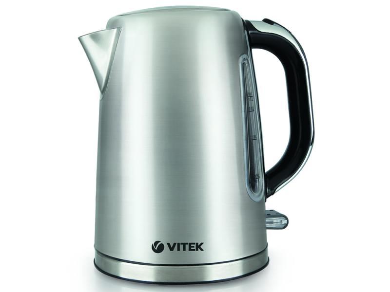 Чайник Vitek 7010 SR 2200 Вт 1.7 л металл серебристый чайник vitek vt 7007 st 2200 вт 1 7 л нержавеющая сталь серебристый