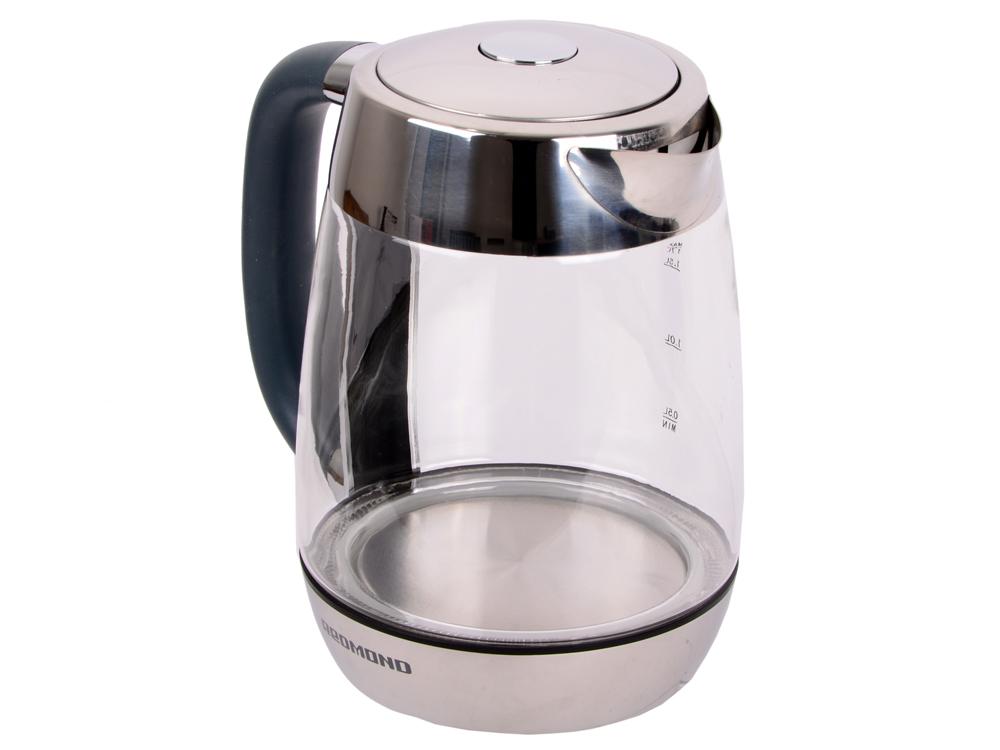 Чайник Redmond RK-G151 2200 Вт 1.7 л металл/стекло чёрный