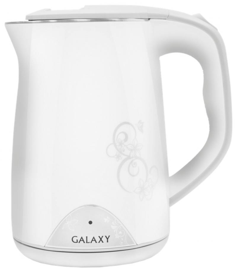 Чайник GALAXY GL0301 2000 Вт 1.5 л пластик белый рисунок чайник galaxy gl0301 2000 вт 1 5 л пластик белый рисунок