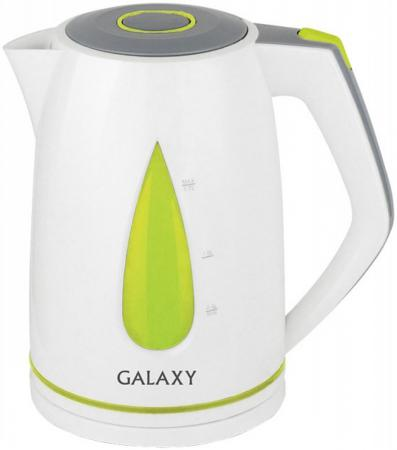 Картинка для Чайник GALAXY GL0201 2200 Вт белый зелёный 1.7 л пластик