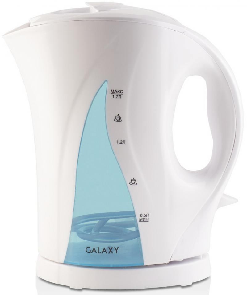 Чайник GALAXY GL0101 2200 Вт 1.7 л пластик белый голубой