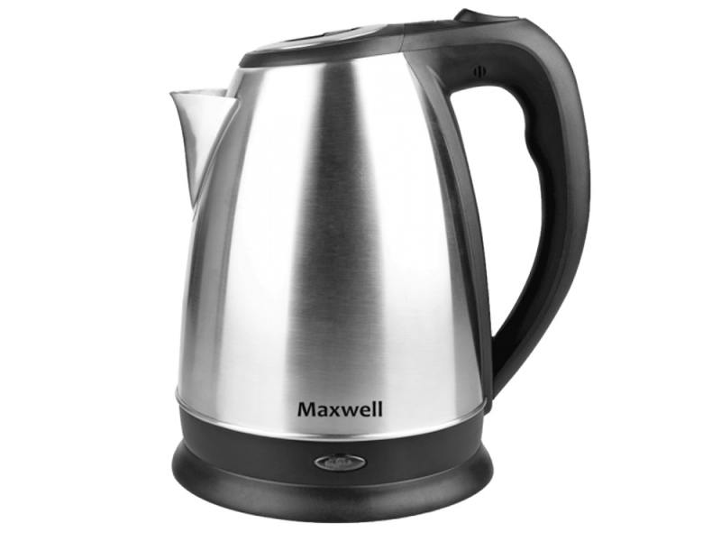 Чайник Maxwell MW-1045(ST) 2200 Вт 1.7 л металл серебристый чайник saturn st ek8434 2200 серебристый чёрный 2 л металл