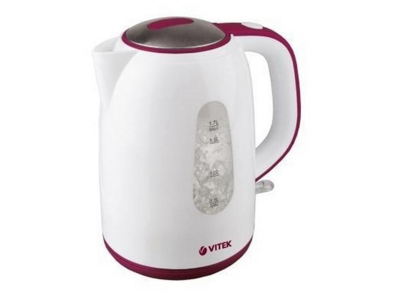 Чайник Vitek VT-7006 W 2150 Вт 1.7 л пластик белый
