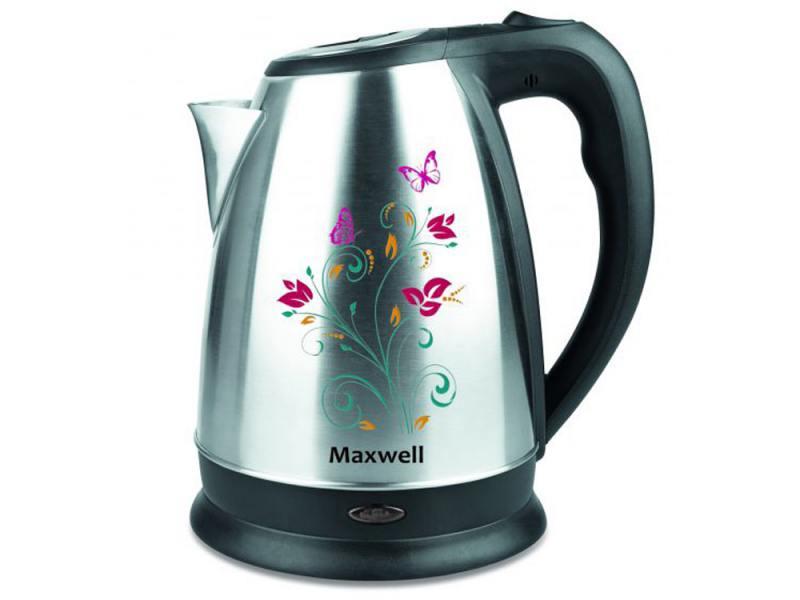 Чайник Maxwell MW-1074 ST 2200 Вт 1.7 л нержавеющая сталь серебристый чёрный чайник vitek vt 7007 st 2200 вт 1 7 л нержавеющая сталь серебристый