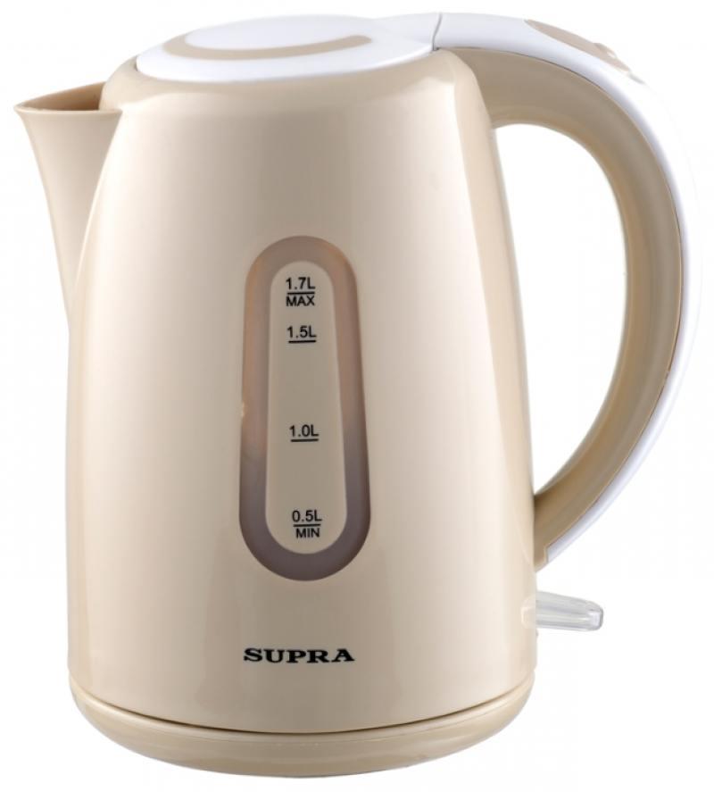 Чайник Supra KES-1720 2200 Вт 1.7 л пластик бежевый supra kes 1001 электрочайник