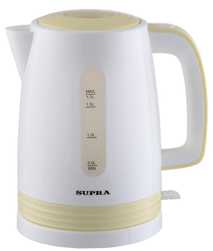 Чайник Supra KES-1723 2200 Вт 1.7 л пластик белый жёлтый