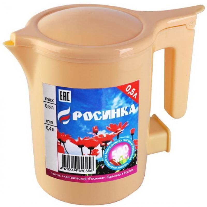 Чайник Росинка ЭЧ-0,5/0,5-220 500 Вт 0.5 л пластик бежевый
