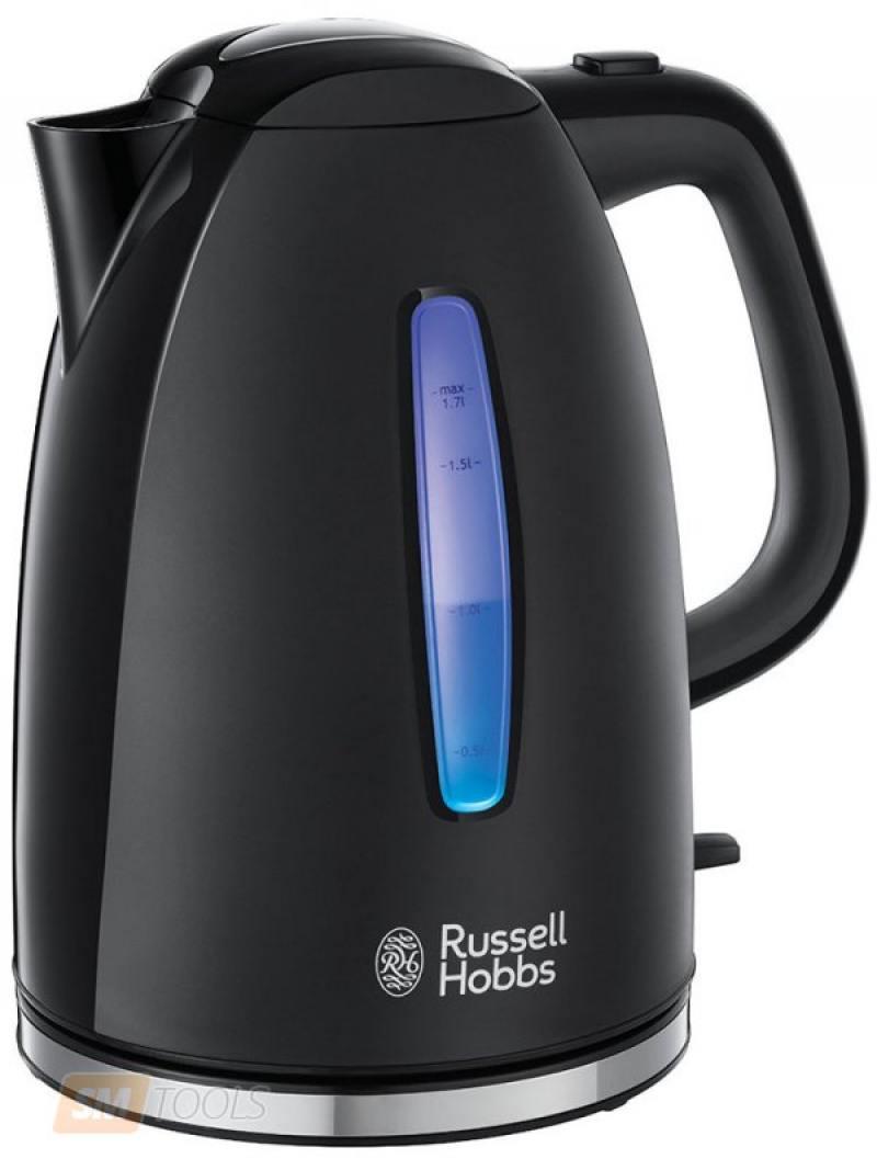 Чайник Russell Hobbs 22591-70 2400 Вт чёрный 1.7 л пластик чайник russell hobbs 22850