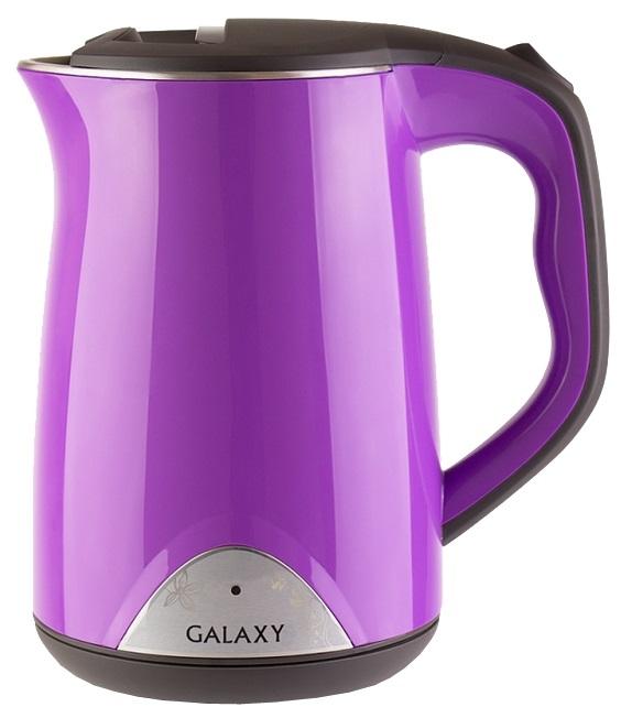 Чайник GALAXY GL0301 2000 Вт 1.5 л пластик фиолетовый чайник galaxy gl0301 2000 вт 1 5 л пластик белый рисунок