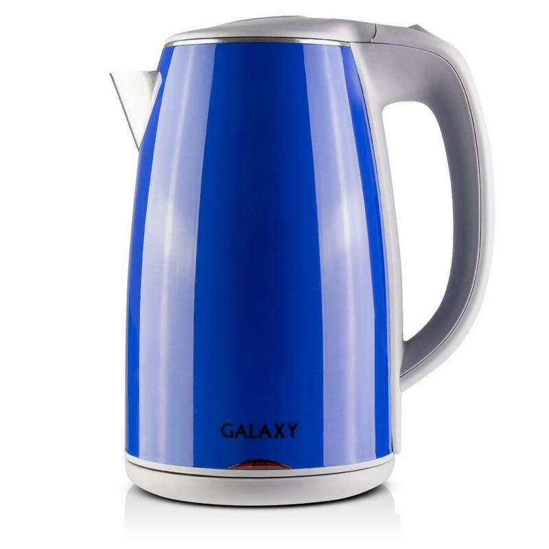 Чайник GALAXY GL0307 2000 Вт 1.7 л металл/пластик синий чайник galaxy gl0307 зеленый