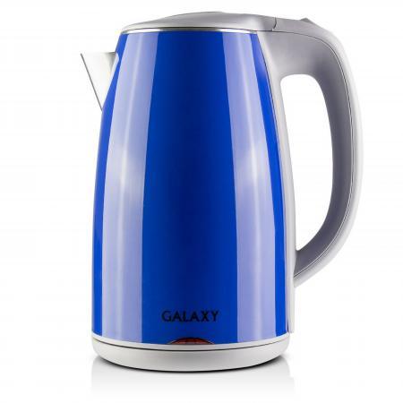 Чайник GALAXY GL0307 2000 Вт 1.7 л металл/пластик синий galaxy gl0307 green электрочайник