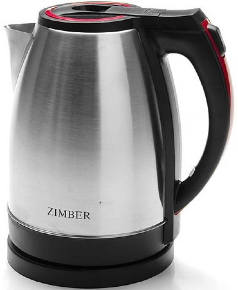 Чайник Zimber ZM-11067 1500 Вт серебристый чёрный 1.8 л нержавеющая сталь