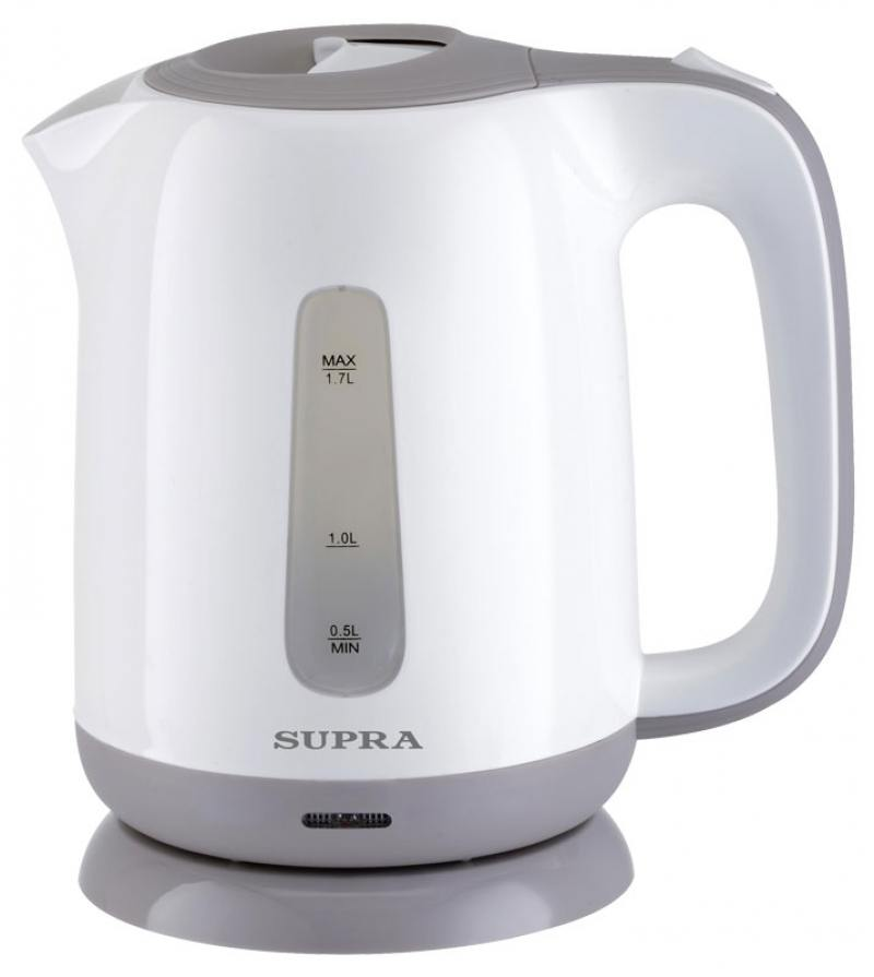 Чайник Supra KES-1724 2200 Вт 1.7 л пластик белый серый чайник supra kes 1724 white grey